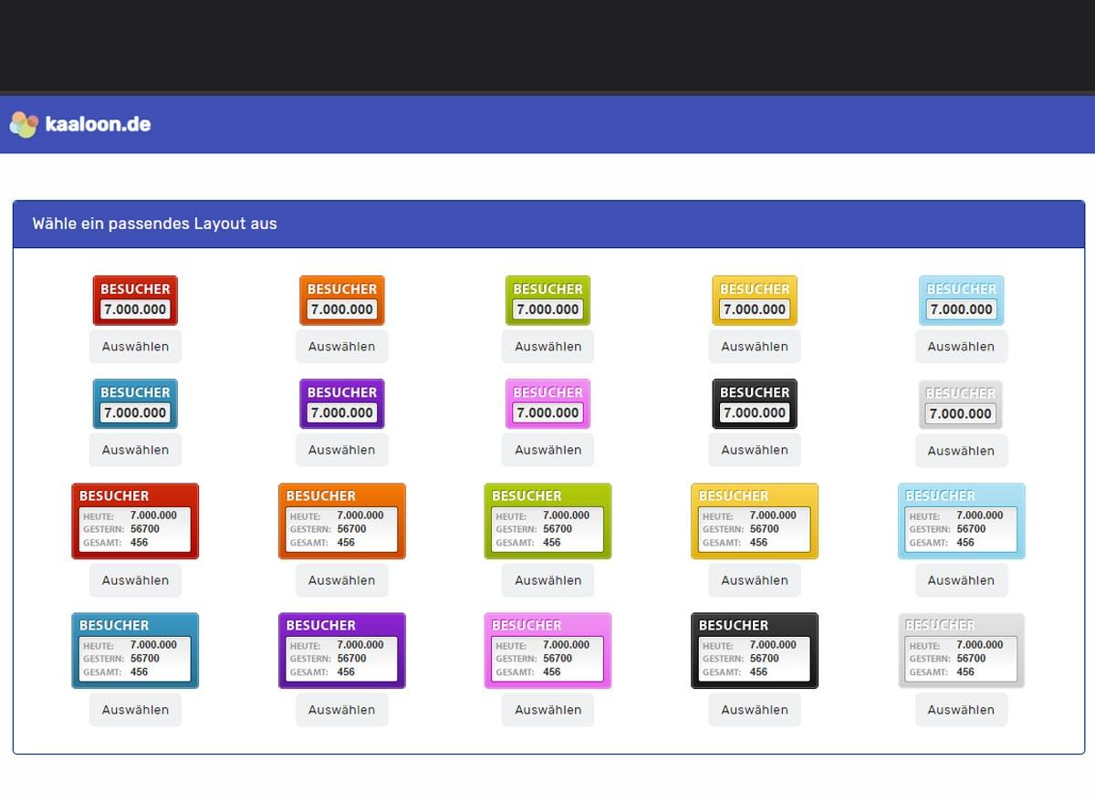 Kaaloon.de Besucherzähler HTML