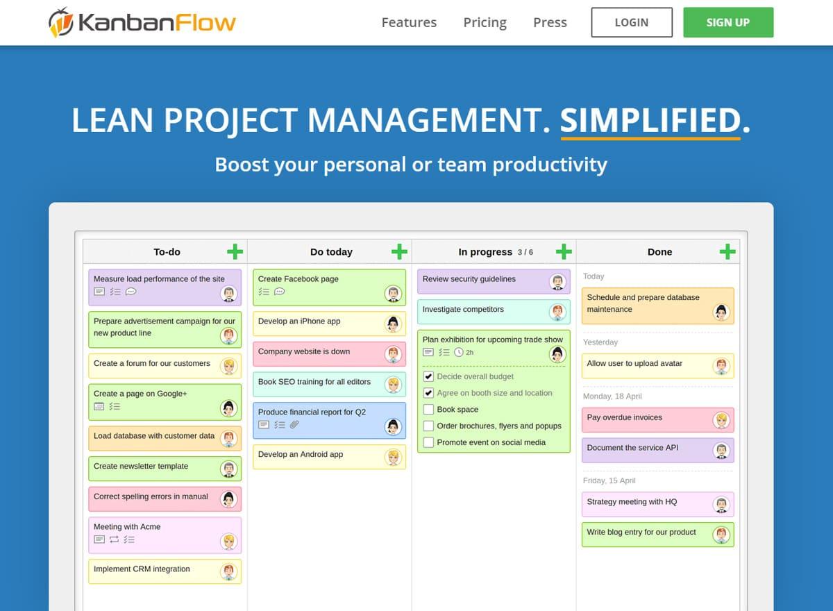 Kanban Flow Produktivitäts Countdown Zähler