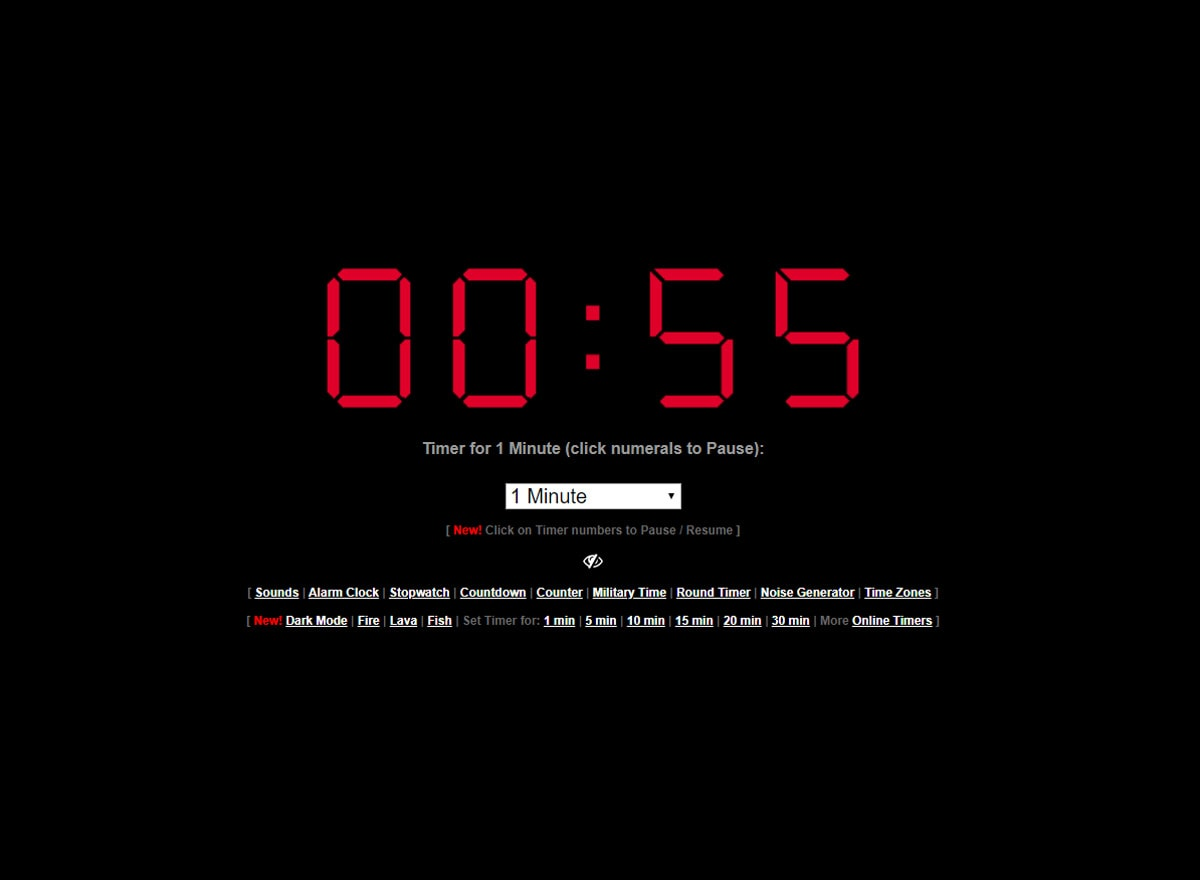 Timer.Onlineclock.net Countdown Zähler